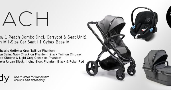 iCandy Peach Combo Lux - Inlcuding Cybex Aton M Car Seat & Base - Different Colours Available