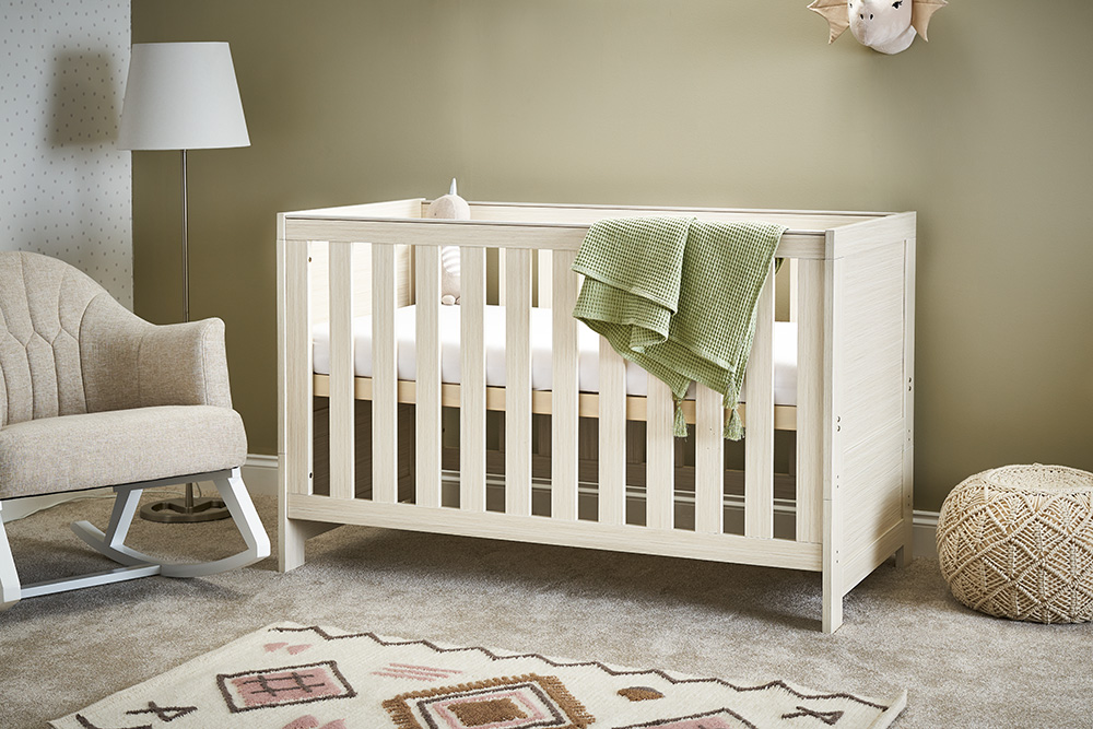 Obaby Nika Cot Bed – Oatmeal - EASTER OFFER