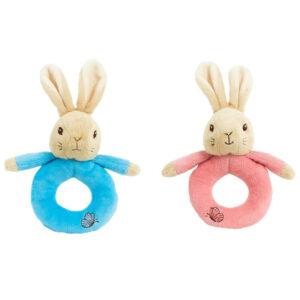 Rainbow Designs Beatrix Potter Flopsy Plush Ring Rattle