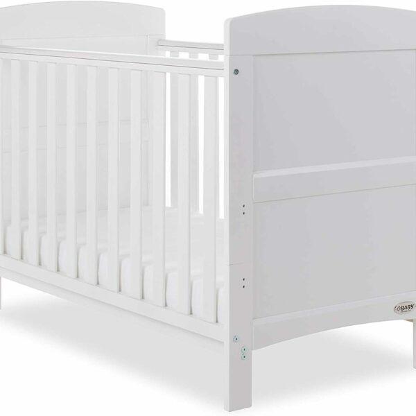 OBaby Grace Mini Cot Bed – White