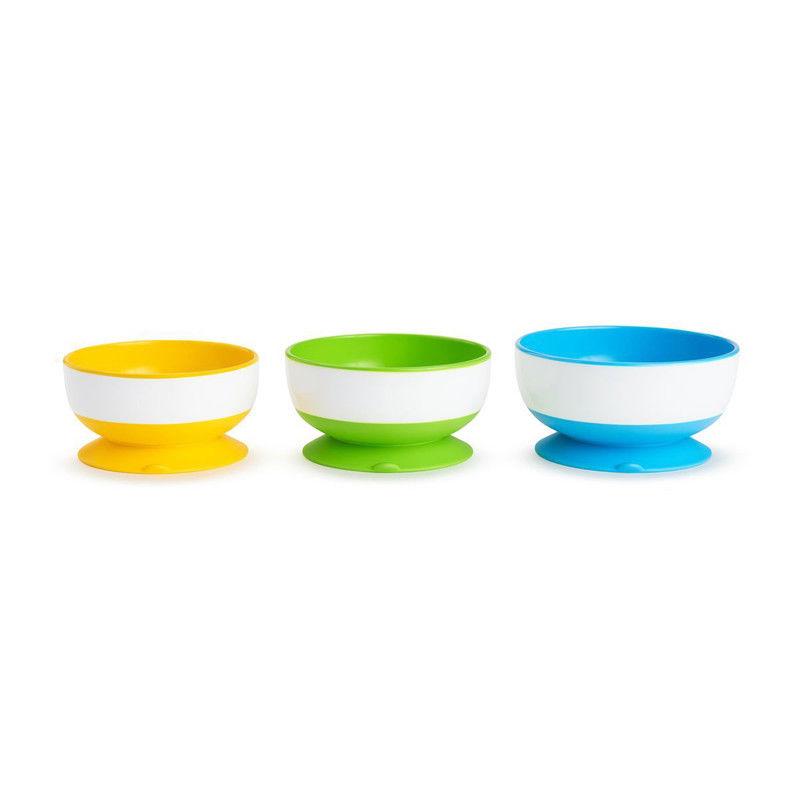 Munchkin Stay Put Suction Bowls - set of 3