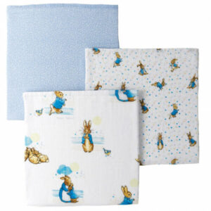 Peter Rabbit Baby Collection Muslin Squares set of 3