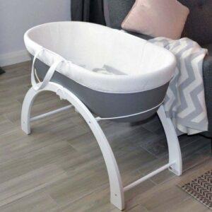 Shnuggle Dreami Baby Sleeper Moses Basket & Stand Slate Grey Base