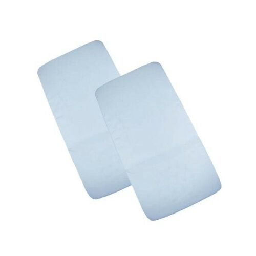 Cuddles Fitted Sheets to Fit Bedside/Co Sleeping Crib - Blue - 2 Pack