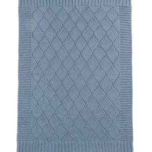 Mamas & Papas - Knitted Blanket - 70 x 90cm - Denim Blue