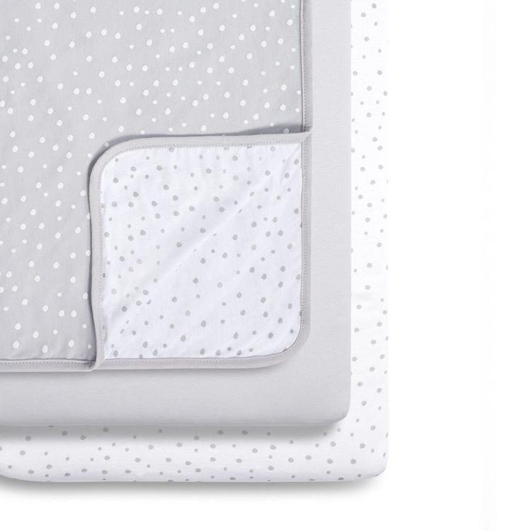 Snuz 3pc Crib Bedding Set – Grey Spots