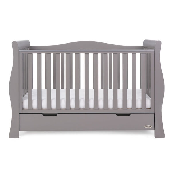 Obaby STAMFORD LUXE SLEIGH COT BED – TAUPE GREY