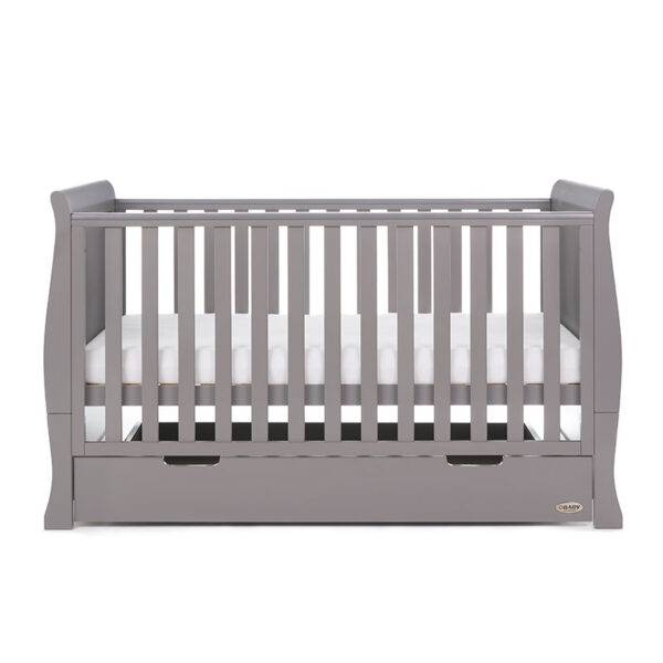Obaby STAMFORD CLASSIC SLEIGH COT BED – TAUPE GREY