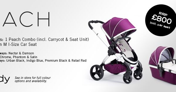 iCandy Peach Combo - Inlcuding Cybex Aton M Car Seat - Different Colours Available