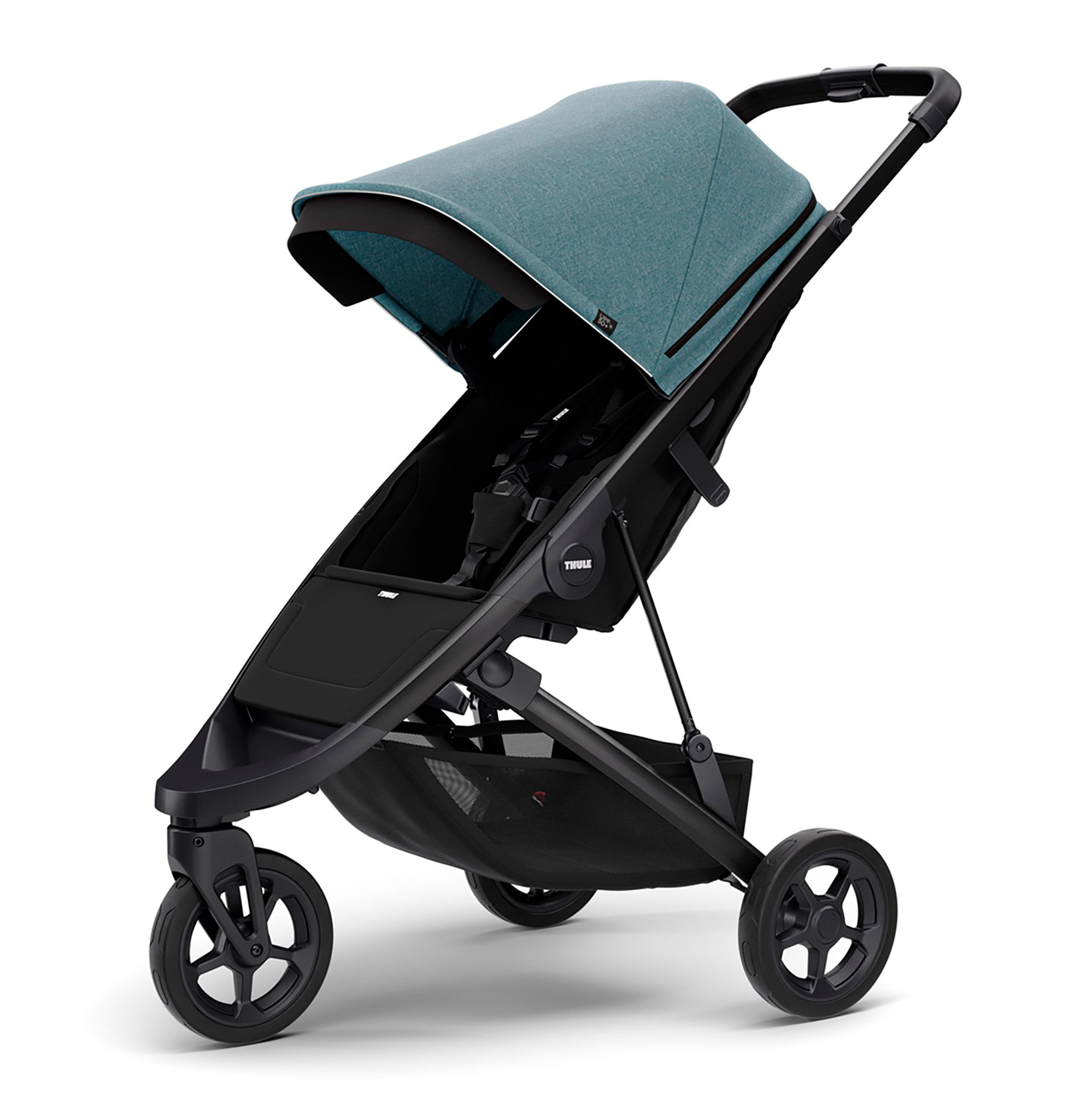 Thule Spring Stroller with Black Chassis Teal Melange