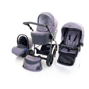 Venicci Carbo Lux 3 in 1 Travel System - Natural Grey
