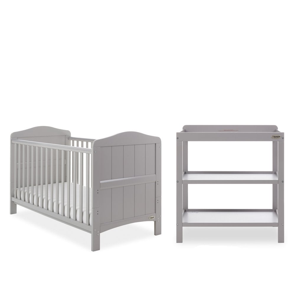 Obaby Whitby 2 Piece Nursery Furniture Room Set - Warm Grey