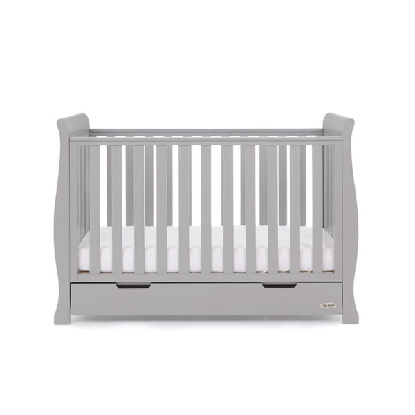 Obaby STAMFORD MINI SLEIGH COT BED – WARM GREY - EASTER OFFER