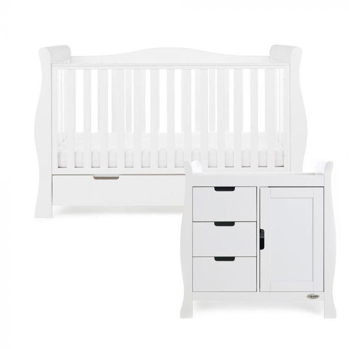 Obaby Stamford Luxe 2 Piece Room Set - White