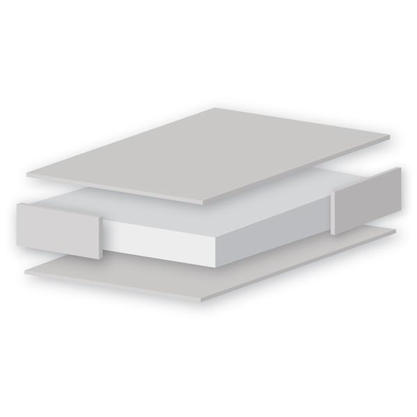 East Coast Foam Wipe-clean Cover Cot Bed Mattress - 140 x 70cm