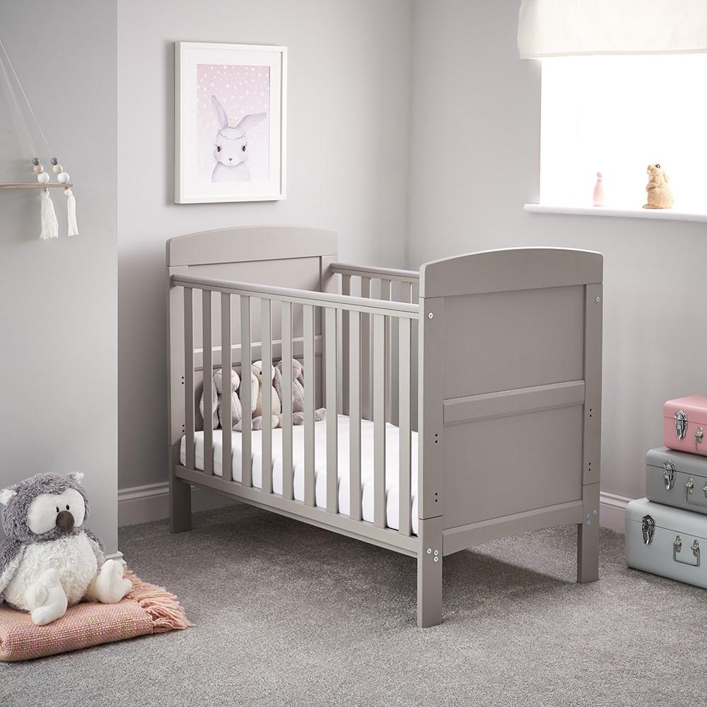 OBaby Grace Mini Cot Bed - Warm Grey
