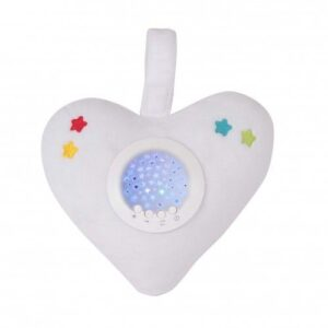 Little Chick of London Twinkle Soother Nightlight - White Heart